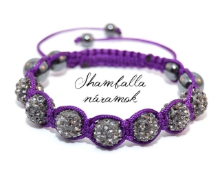 LUX shamballa náramok purple night